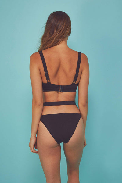 Wolf & Whistle Bandage swimsuit black