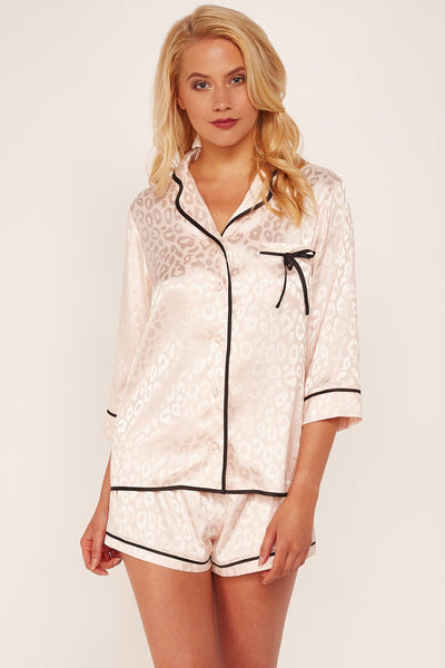 Wolf & Whistle Tracey Pink Leopard PJ Set