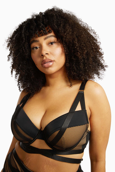 Gabi Fresh Brooklyn Fishnet Strappy Bra