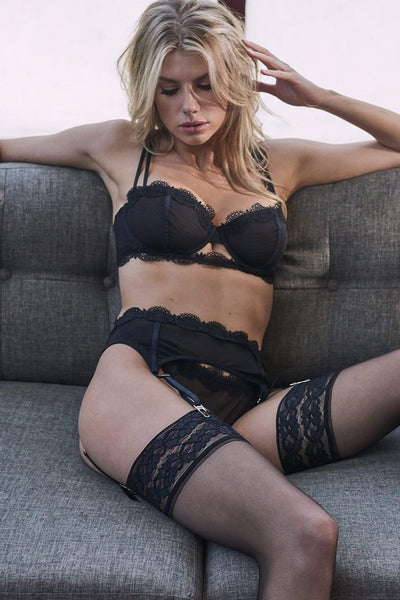 WW x Charlotte McKinney Astrid Mesh and lace thong