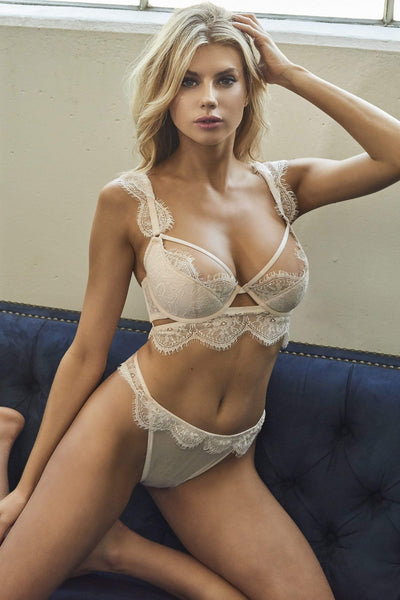 WW x Charlotte McKinney Blush Gigi  Cut Out Side Thong