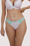 Deja Day Sophia Pink & Green Polka Brazilian Brief