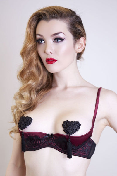 Matilde Nipple Tassels – Black Rose