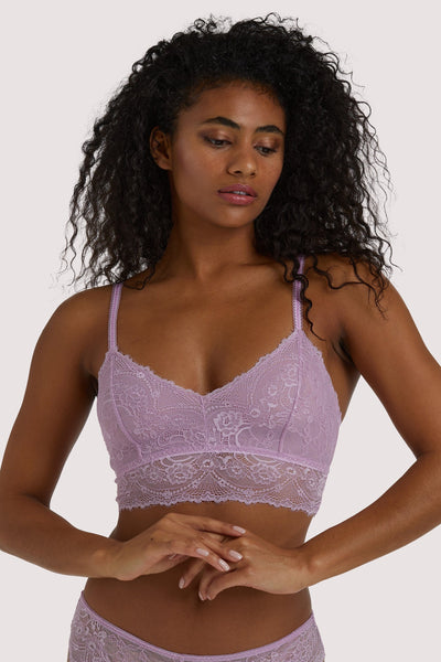 Wolf & Whistle Ariana Lilac Everyday Lace Bralette