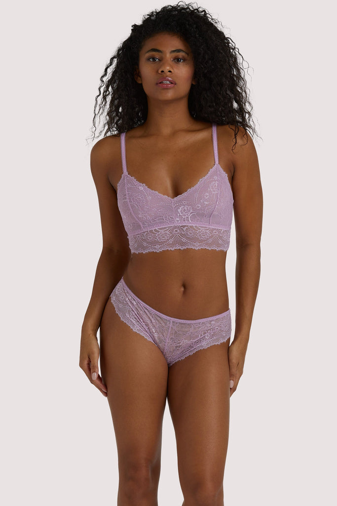 Wolf & Whistle Ariana Lilac Everyday Lace Brief