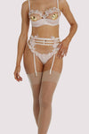 Playful Promises Virginia Peach Guipure Suspender