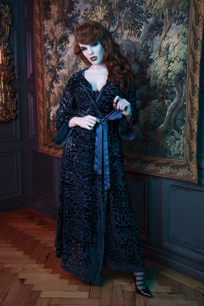 FFFB Teal devore long robe