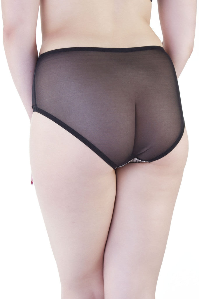 Bettie Page Lace High Waist Brief