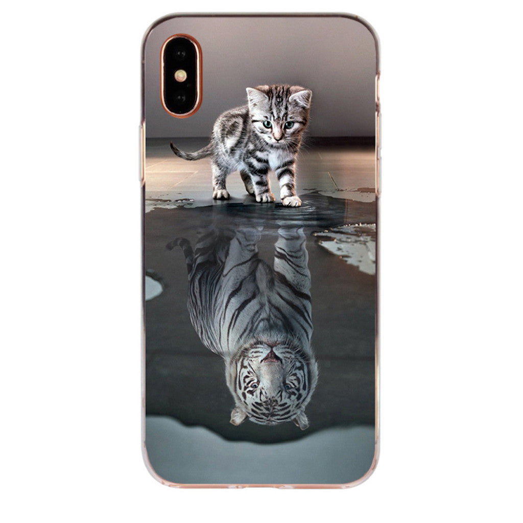 Coque iPhone Chat Tigre