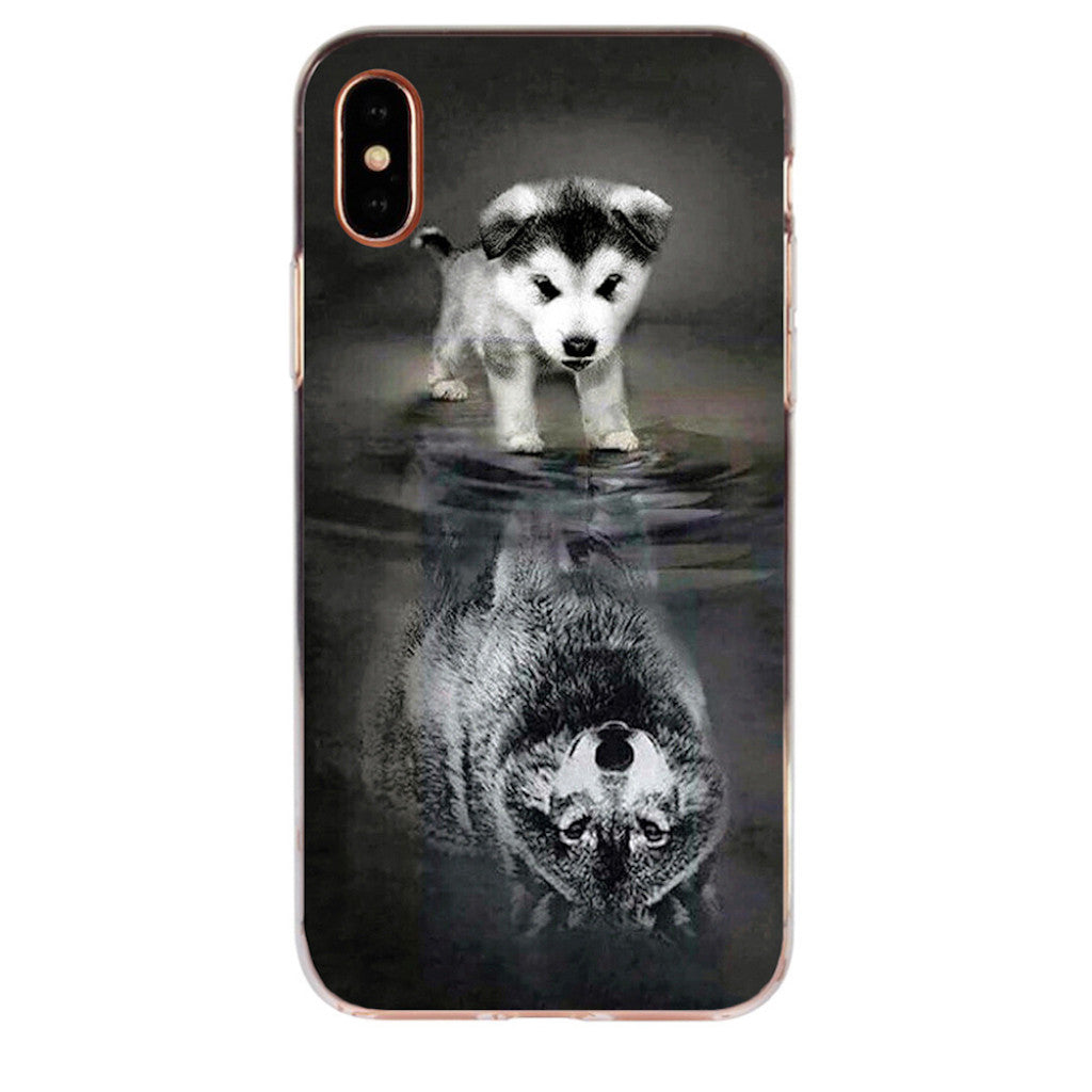 Coque iPhone Chien Loup