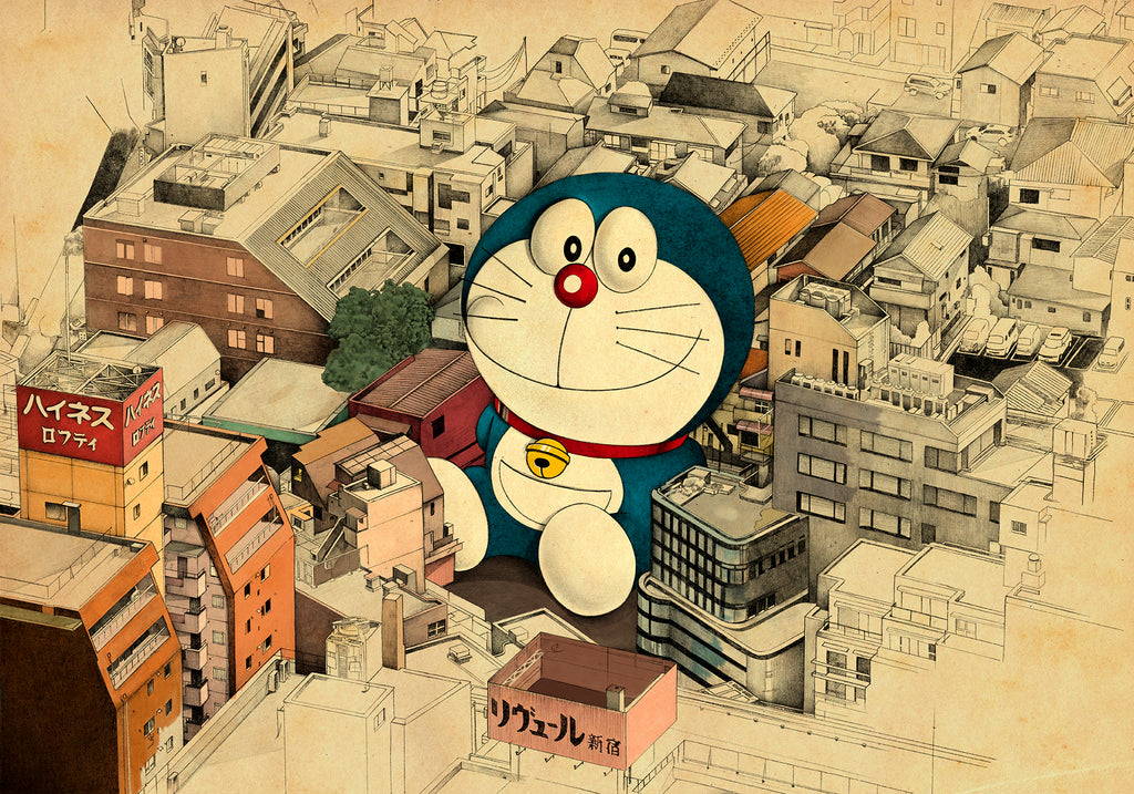 Lonely Doraemon. Limited edition.