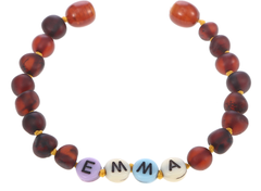 Gaya bracelet is personalised Amber bracelet originated from Baltic. (Certified)  Amber is a powerful, gentle and safe healing stone. Perfect for babies and toddlers, the amber stone helps with physical self-healing, relieve tooth pain and mood changes.