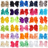 Anna bows are large 4 inches hair bows made of a crocodile clip to allow a good grip on the hair.