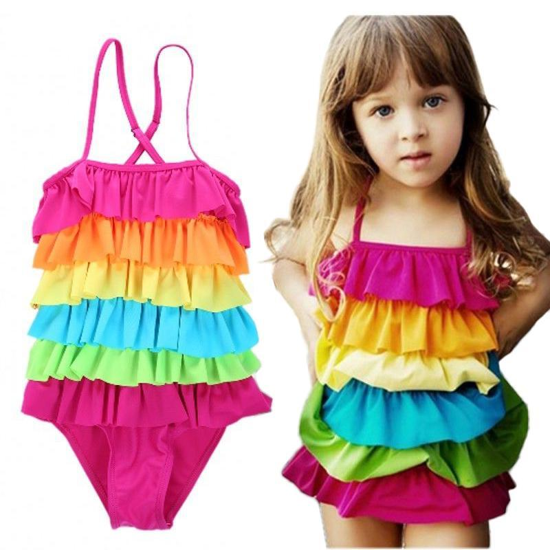 Lila Rainbow Swimsuit