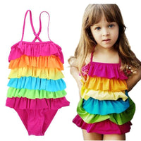 4-9T new cute baby girls swimwear girl one piece girls swimsuit kid/children swimming Suit Toddler Girls Summer Beachwear Kids