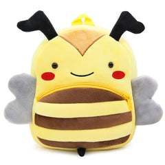 Bee backpack made of soft plush fabric, delightfully soft, snuggly and perfect to hold as a comforter.