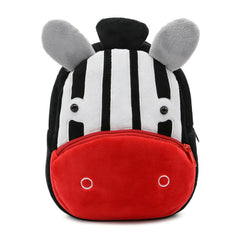 Zebra backpack made of soft plush fabric, delightfully soft, snuggly and perfect to hold as a comforter.