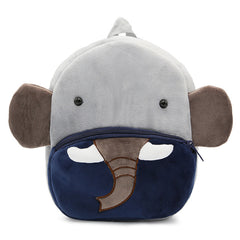 Elephant backpack made of soft plush fabric, delightfully soft, snuggly and perfect to hold as a comforter.