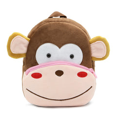 Monkey backpack made of soft plush fabric, delightfully soft, snuggly and perfect to hold as a comforter.
