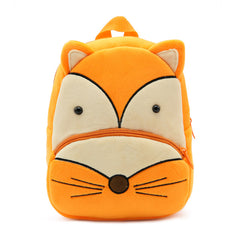 Fox backpack made of soft plush fabric, delightfully soft, snuggly and perfect to hold as a comforter.