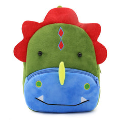 Dinosaur backpack made of soft plush fabric, delightfully soft, snuggly and perfect to hold as a comforter.