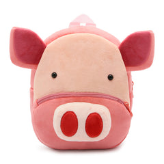 Pig backpack made of soft plush fabric, delightfully soft, snuggly and perfect to hold as a comforter.