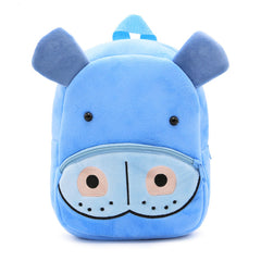 Hippo backpack made of soft plush fabric, delightfully soft, snuggly and perfect to hold as a comforter.