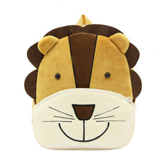 Lion backpack made of soft plush fabric, delightfully soft, snuggly and perfect to hold as a comforter.