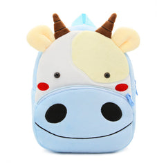 Cow backpack made of soft plush fabric, delightfully soft, snuggly and perfect to hold as a comforter.