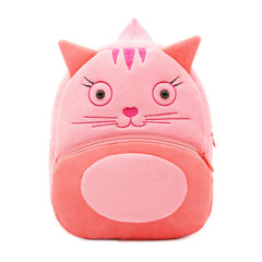 Cat backpack made of soft plush fabric, delightfully soft, snuggly and perfect to hold as a comforter.