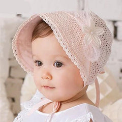 baby sun hat with flower
