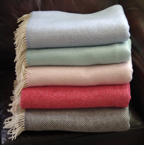 Herringbone Throw Blanket Collection