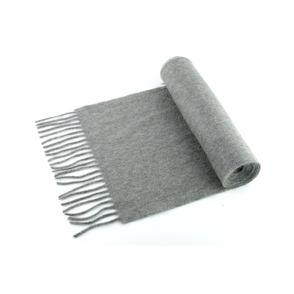 100% cashmere scarf, made in Ireland, grey