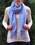 ultra-fine and silky smooth baby blue pashmina made in Ireland