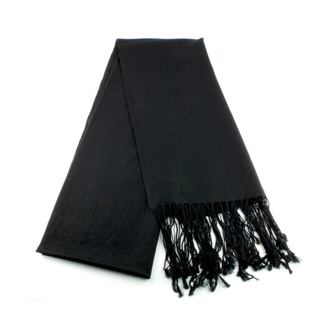 ultra fine and silky smooth wool pashmina made in Ireland, black