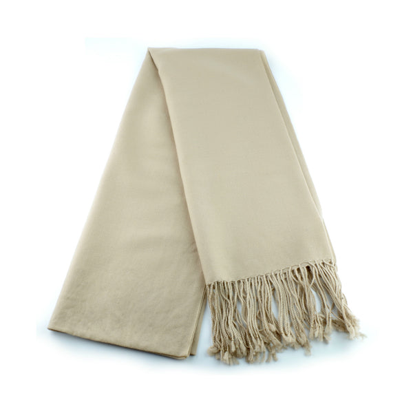 ultra fine and silky smooth wool pashmina made in Ireland, camel beige