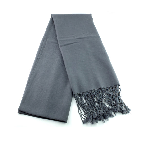 ultra fine and silky smooth wool pashmina made in Ireland, dark grey