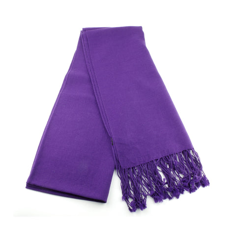 ultra fine and silky smooth wool pashmina made in Ireland, purple
