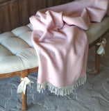 Blush Pink Herringbone Blanket
