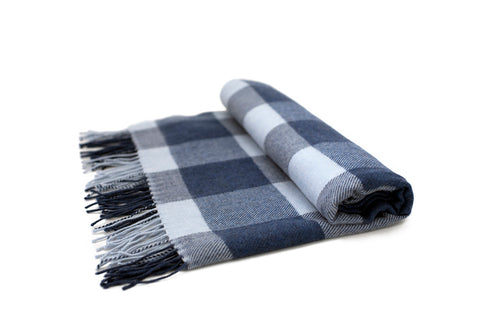 Blue Buffalo Check Scarf