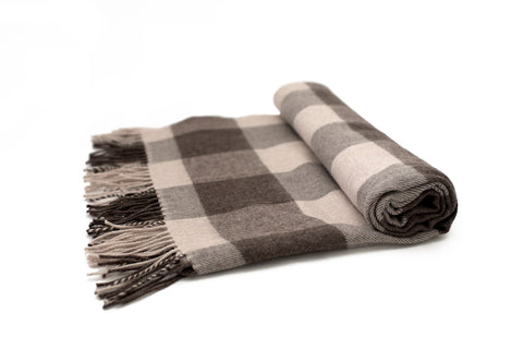 Chocolate Buffalo Check Scarf