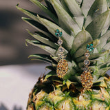 GLOW SOCIETY Fruit Collection - Crystal Pineapple Dangle Earrings