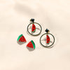 GLOW SOCIETY Fruit Collection - Watermelon Slice Stud Earrings