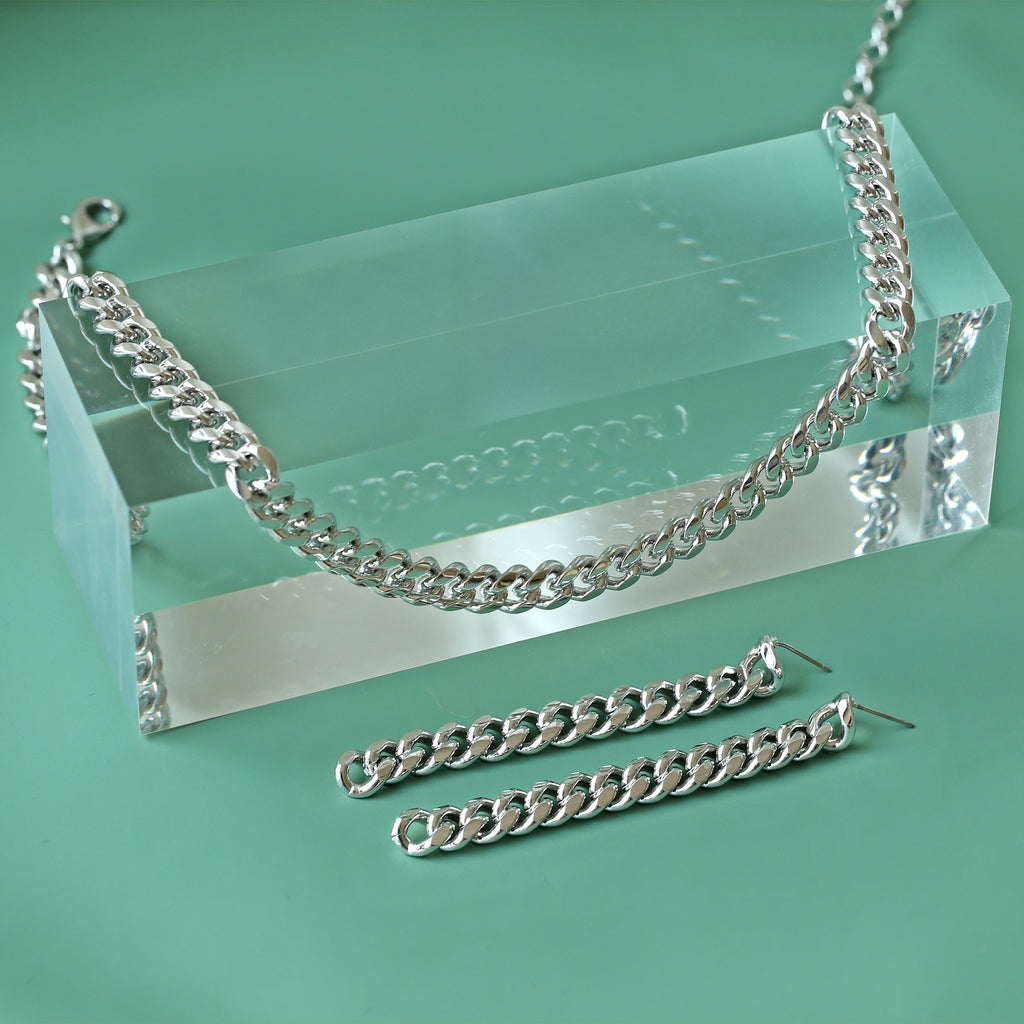 GLOW SOCIETY Link Collection - Boyfriend Silver Chain Necklace