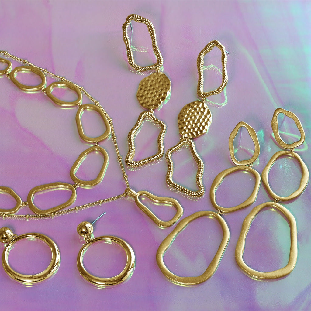 GLOW SOCIETY Curvilinear Forms Collection - Organic Shaped Necklace