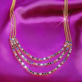 GLOW SOCIETY Shades of Rainbow Collection - Colorful Layer Chain Necklace
