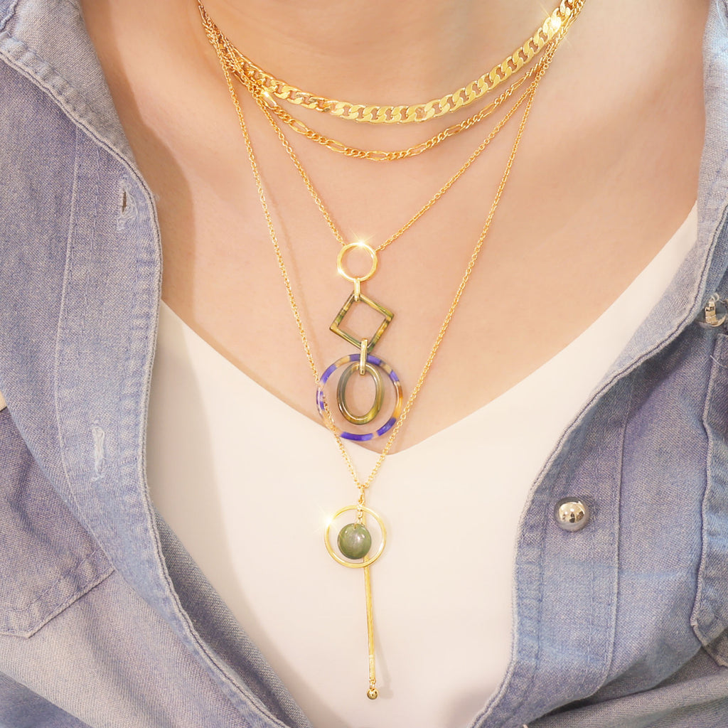 GLOW SOCIETY Link Collection - Layer 14K Gold Plated Chain Necklace
