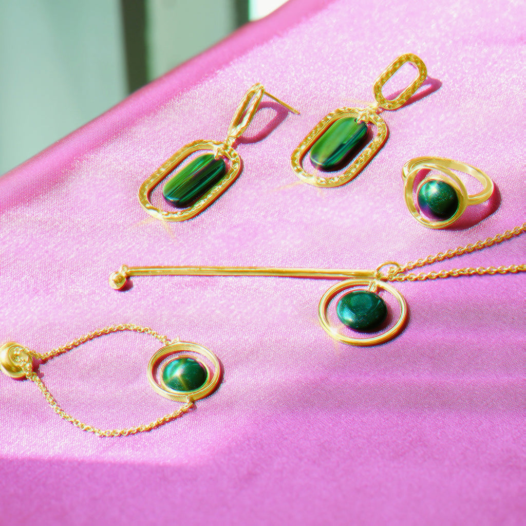 GLOW SOCIETY Bohemian Jive Collection - Jade Y Shaped Layer Necklace