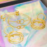 GLOW SOCIETY Hoop Stack Collection - Knot Circle Adjustable Bracelet
