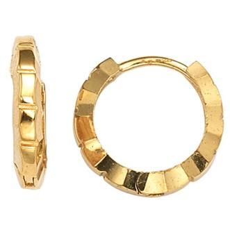 GEMOUR Yellow Gold Plated Sterling Silver Cubic Zirconia Geometric Hoop Earrings - GEMOUR